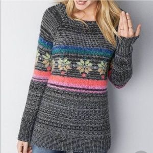 American Eagle Rainbow Fairisle Jegging Sweater